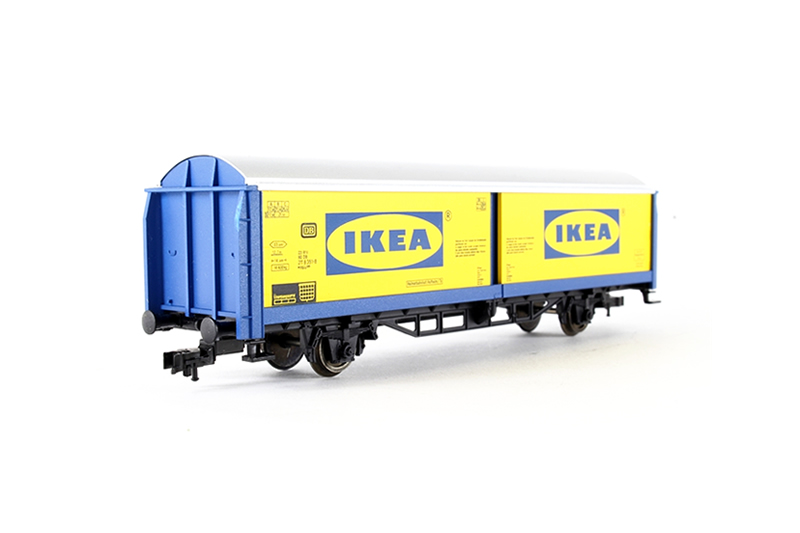 Fleischmann IKEA Container Wagon - N Scale *** Rare item !!! ***