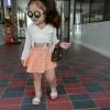 set 2 ชิ้น เสื้อเอวลอยแขนบาน กับ กระโปรงลายจุด สำหรับเด็ก