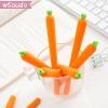 [พร้อมส่ง] ปากกาเจล ปากรูปทรงแครอท หมึกดำหัวปากกา 0.5mm.