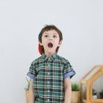 เสื้อเชิ้ต ลายสก๊อต โทนเขียว สำหรับเด็ก