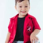 เสื้อช็อปเด็ก สีแดง
