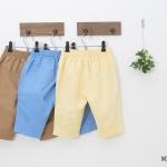 กางเกงเด็ก ขา 3 ส่วน สีน้ำตาล