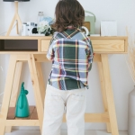 กางเกงสีครีมกับกระเป๋าเก๋ๆ สำหรับเด็ก