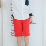 กางเกงเด็ก สีแดง