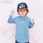 เสื้อเชิ้ตแขนยาวสีฟ้าลายจุด เด็ก 1 ถึง 4 ขวบ