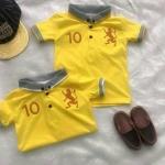 เสื้อเด็ก โปโลสีเหลือง