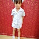 ชุดพยาบาลเด็ก สีขาว รุ่นใหม่