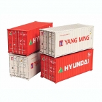 Graham Farish 20' Containers Yang Ming/Hyundai - N Scale