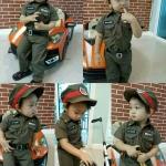 ชุดตำรวจเด็ก แบบมีหมวก