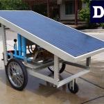 เครื่องสูบน้ำพลังงานแสงอาทิตย์ รุ่น DCSP0124-300W-P25 แบบรถเข็น (Mobile Type)