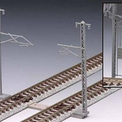Tomix Overhead Wire Mast for single track (24 pcs) - N Scale