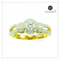 แหวนเพชรแท้ แหวนเพชรสวยๆ เจิดจรัสเปล่งประกายด้วยเพชรน้ำ100(สามารถสั่งทำได้ค่ะ)