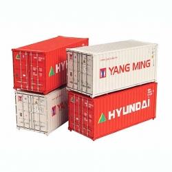 Graham Farish 20' Containers Yang Ming/Hyundai - N Scale