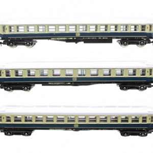 Lima DB 1st and 2nd Class Blue Coaches Set - N Scale (3x Coaches)