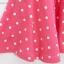 ชุดกระโปรงเด็กผู้หญิง สีชมพูเข้ม ลายจุดขาว thumbnail 6