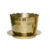 กระถางธูป (จานรอง) ทองเหลืองแท้