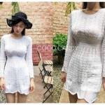 เดรสแฟชั่น Korea Knitting Dress