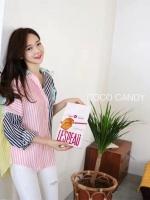 เสื้อเชิ้ตแฟชั่น Candy Pastel Stripe Oversize Shirt
