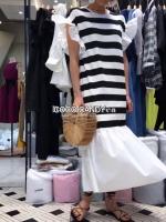 ชุดแม็กซี่เดรส Ruffle Stripe Maxi Dress