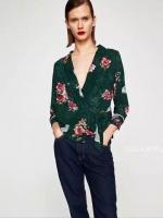 เสื้อแฟชั่น Zara Kimono Printed Top