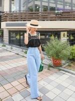 เสื้อแฟชั่นเกาหลี Korea Chill Crochet Knit Top
