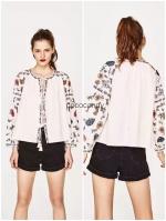เสื้อแฟชั่น Zara Boho Embroidery Top