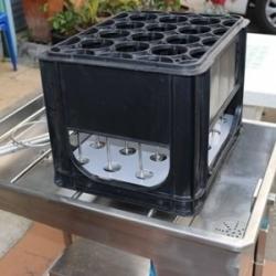 เครื่องล้างถัง + ล้างขวด (พร้อมลังแผ่นล็อกคอขวด)