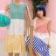 ชุดเดรส Colorful Pattern Sleeveless A-Line Dress