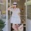 ชุดเดรสแฟชั่น Haidi Lace Collar Dress สีขาว